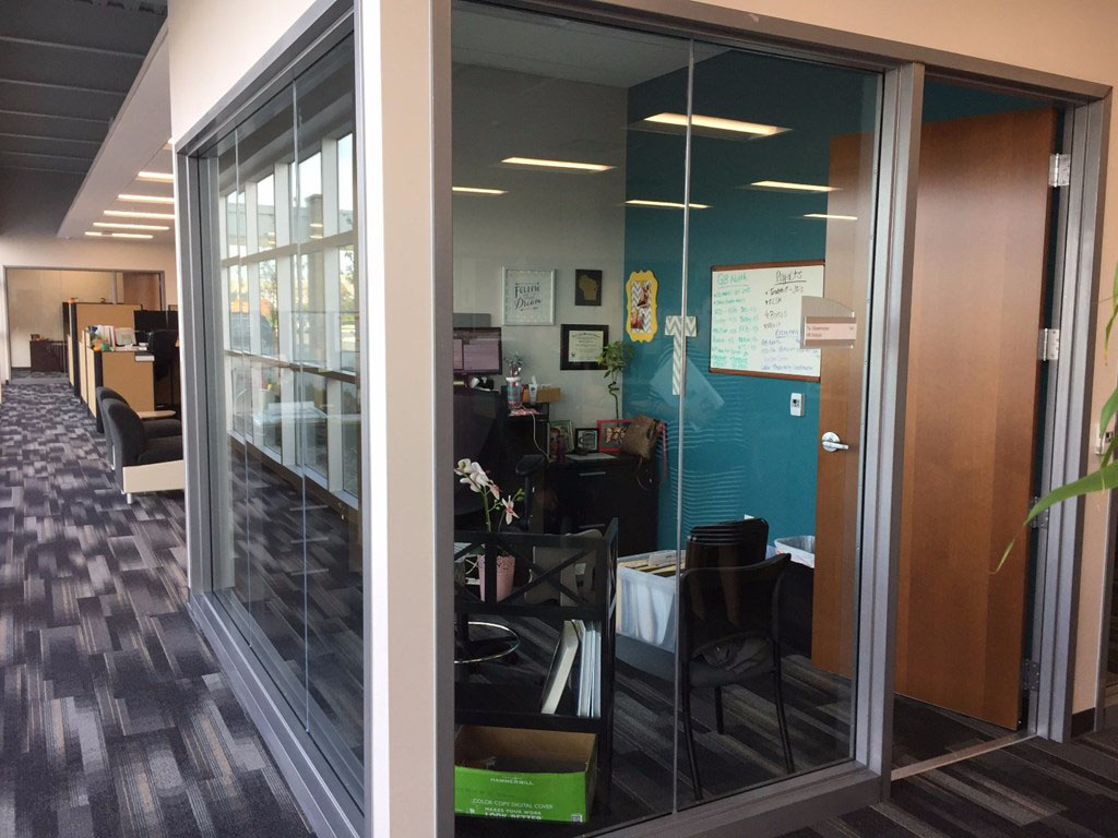 Festival Foods Office interior doors and frames supplied by Green Bay-based manufacturer and supplier LaForce Inc.
