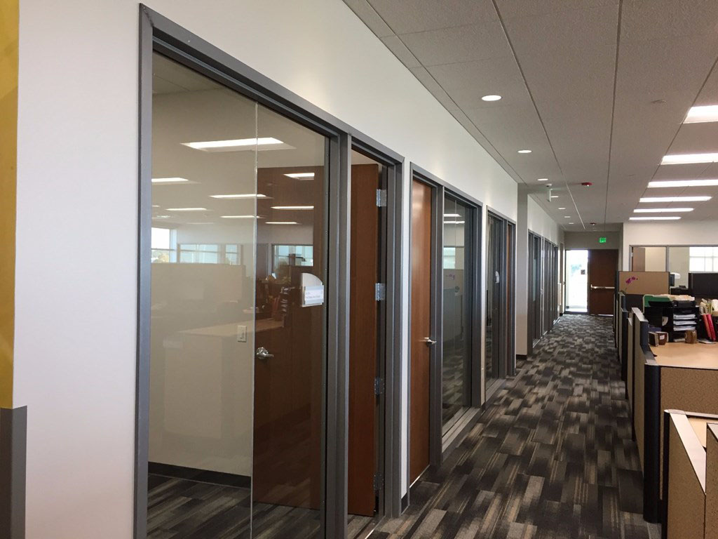 Festival Foods Offices, interior doors and frames supplied by Green Bay-based manufacturer and supplier LaForce Inc.