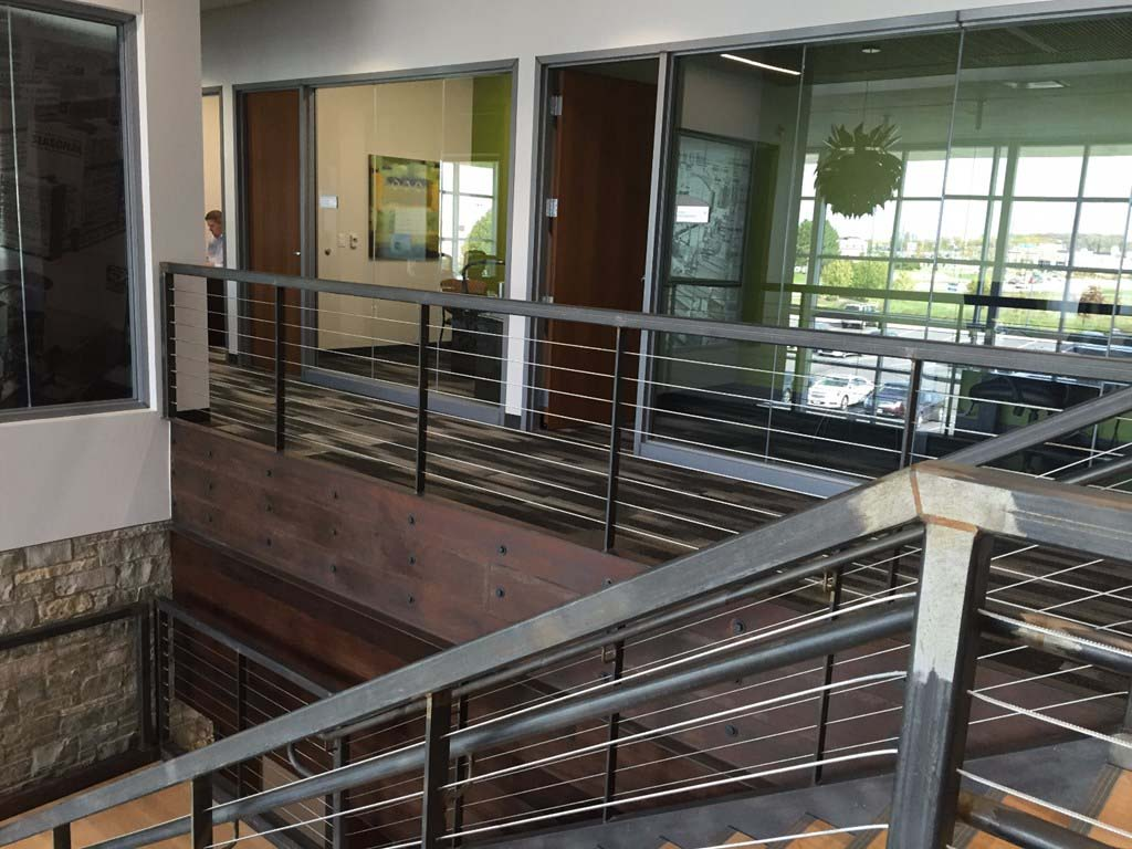 Festival Foods Support Office railings, frames and large glass office windows