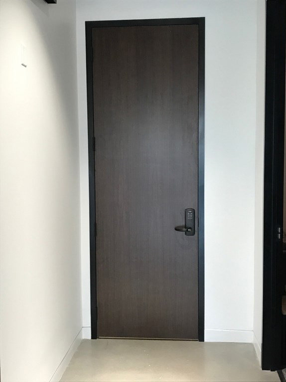 Walnut door supplied by LaForce Inc.