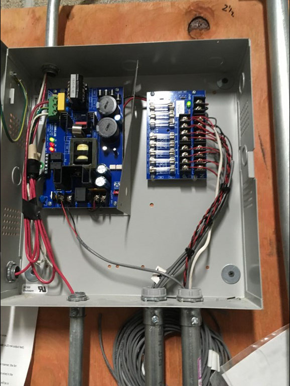 Control box and electric hardware at the Village Green Business Center